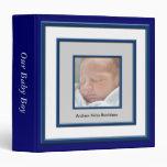 Álbum del bebé del marco de la foto de los azules