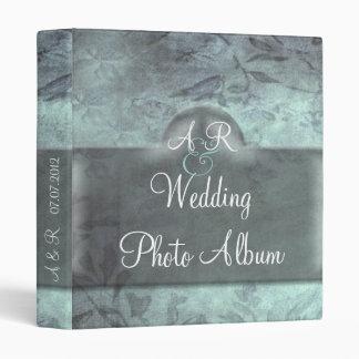 Álbum del boda del damasco del vintage