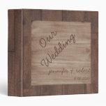 Álbum del boda del país de madera y del abedul