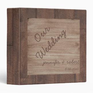 """Álbum del boda del país de madera y del abedul carpeta 1 1/2"""""""