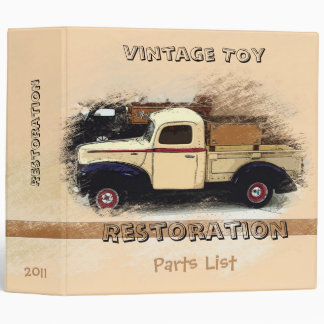 Album Designer - Vintage Toy Truck 3 Ring Binder