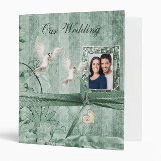 Álbum floral verde de encargo del boda de la foto