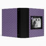 Álbum negro y púrpura del boda del damasco