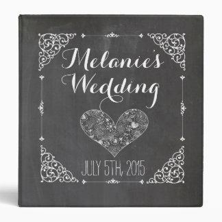 Álbum o libro de cocina del boda de la pizarra del