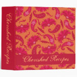 Álbum parisiense rojo y anaranjado de la memoria d