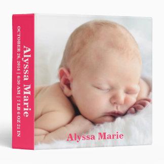 Álbum personalizado foto rosada de la carpeta