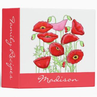 """Álbum personalizado nombre rosado rojo del arte de carpeta 2"""""""
