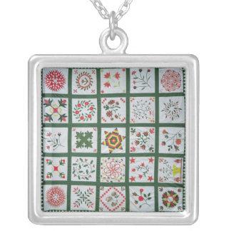 Album quilt with season flowers, 1844 jewelry