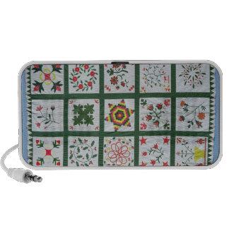 Album quilt with season flowers, 1844 speaker