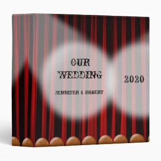 Álbum rojo del boda de la etapa de la cortina del