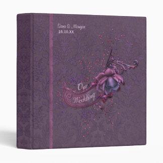 """Álbum romántico oscuro del boda del damasco carpeta 1"""""""