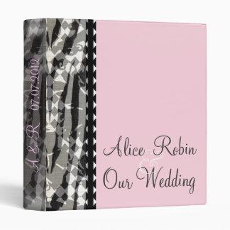 Álbum rosado elegante del boda
