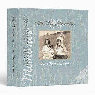 """Álbum rústico de la memoria de madera y del cordón carpeta 1 1/2"""""""