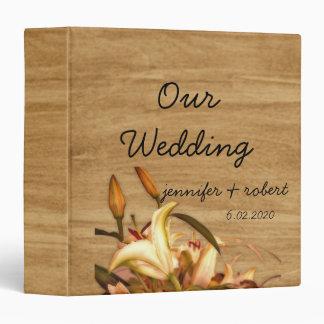 Álbum rústico del boda de la acuarela del lirio de