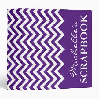 Álbum scrapbooking del galón púrpura de la carpeta