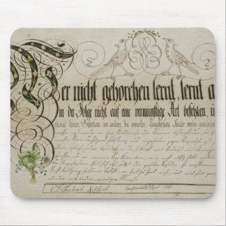 Album sheet, 1789 mouse pad