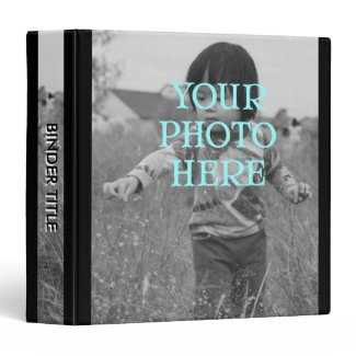 Album w/ Title, Full Photo Covers and Spine 3 Ring Binders