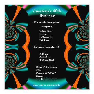 Álbumes del verde del extracto del cumpleaños de invitaciones personalizada