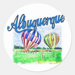 Albuquerque Balloons Classic Round Sticker