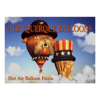 Albuquerque Balloons – Photo Art Poster