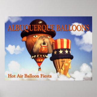 Albuquerque Balloons – Photo Art Poster Print