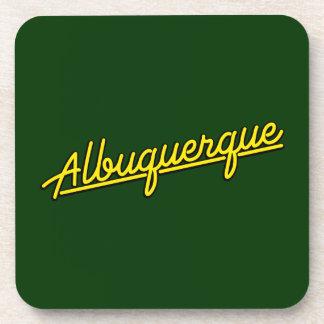 Albuquerque en amarillo posavasos de bebida