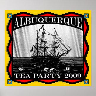 Albuquerque fiesta del té del nanómetro posters