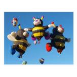 Albuquerque Hot Air  Balloon Bees Postcard