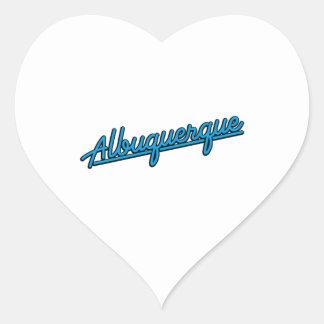 Albuquerque in cyan heart sticker