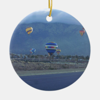 Albuquerque International Balloon Fiesta 1.13 Double-Sided Ceramic Round Christmas Ornament