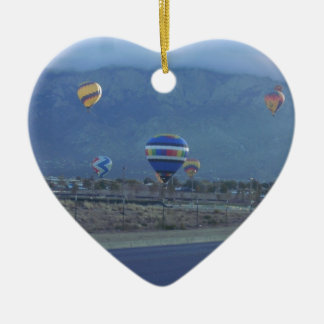 Albuquerque International Balloon Fiesta 1.13 Double-Sided Heart Ceramic Christmas Ornament