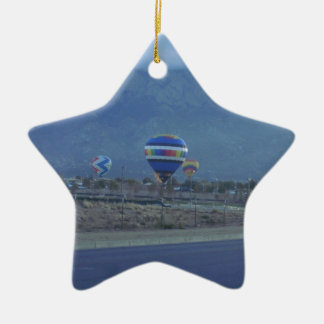 Albuquerque International Balloon Fiesta 1.13 Double-Sided Star Ceramic Christmas Ornament