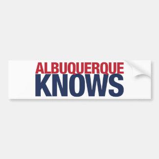 Albuquerque Knows Bumper Sticker