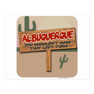 Albuquerque Left Postcard