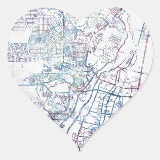 Albuquerque map painting pegatina en forma de corazón