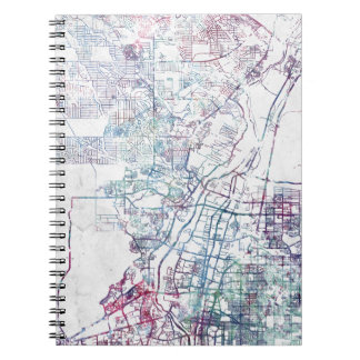 Albuquerque map painting spiral notebook