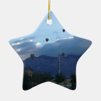 Albuquerque Mountains & Balloon Fiesta Double-Sided Star Ceramic Christmas Ornament