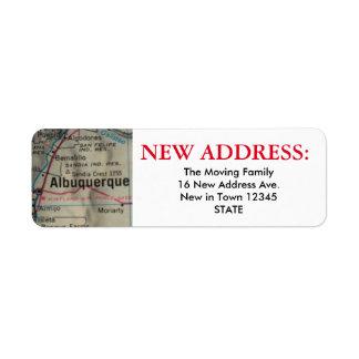 Albuquerque New Address Label