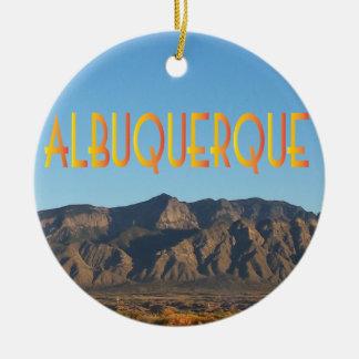 Albuquerque New México Adorno Navideño Redondo De Cerámica