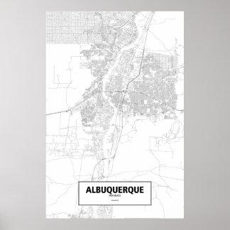 Albuquerque, New Mexico (black on white) Poster