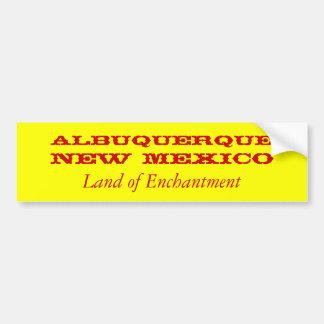 ALBUQUERQUE, NEW MEXICO BUMPER STICKER