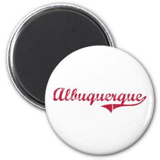 Albuquerque New Mexico Classic Design 2 Inch Round Magnet