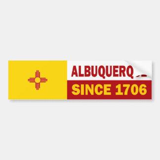 Albuquerque, New México desde 1706 Etiqueta De Parachoque