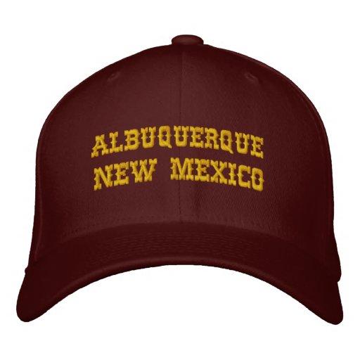 ALBUQUERQUE, NEW MEXICO EMBROIDERED BASEBALL CAP