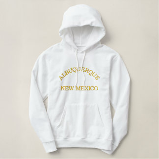 ALBUQUERQUE, NEW MEXICO EMBROIDERED HOODIE