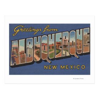 Albuquerque, New México - escenas grandes de la Postales