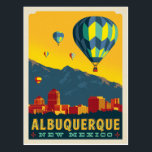 "Albuquerque, New Mexico | Hot Air Balloons Postcard<br><div class=""desc"">Anderson Design Group is an award-winning illustration and design firm in Nashville,  Tennessee. Founder Joel Anderson directs a team of talented artists to create original poster art that looks like classic vintage advertising prints from the 1920s to the 1960s.</div>"