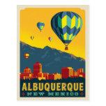 albuquerque new mexico, hot air balloon, retro,