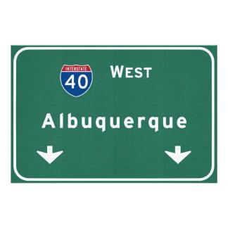 Albuquerque New Mexico nm Interstate Highway : Photo Print