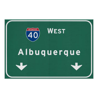Albuquerque New Mexico nm Interstate Highway : Poster